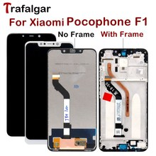 2018 New Screen for Xiaomi Pocophone F1 LCD Display Touch Screen Digitizer Assembly with Frame for Xiaomi Poco F1 LCD Screen