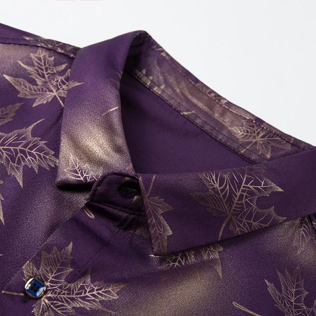 2021 New Social Long Sleeve Maple Leaf Designer Shirts Men Slim Fit Vintage Fashions Men's Shirt Man Dress Jersey Clothing 36565 3