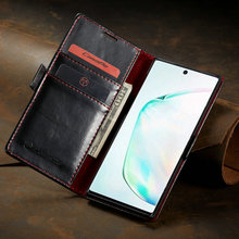 Luxury Leather Case For Samsung Note 10 Case Magnetic Card Wallet Cover For Samsung Galaxy Note 10 Plus Flip Phone Cover butterfly wallet leather case for samsung galaxy a71 4g cover luxury flip case