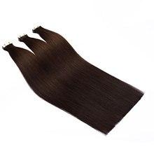"""SEGO 20/40 шт. 1""""-24"""" Мини клейкая лента(с чешуйками в одном направлении), опт Remy 13 Цветов прямые шелковистые волосы на Клейкой Ленте имитирующей кожу из натуральных волос"""