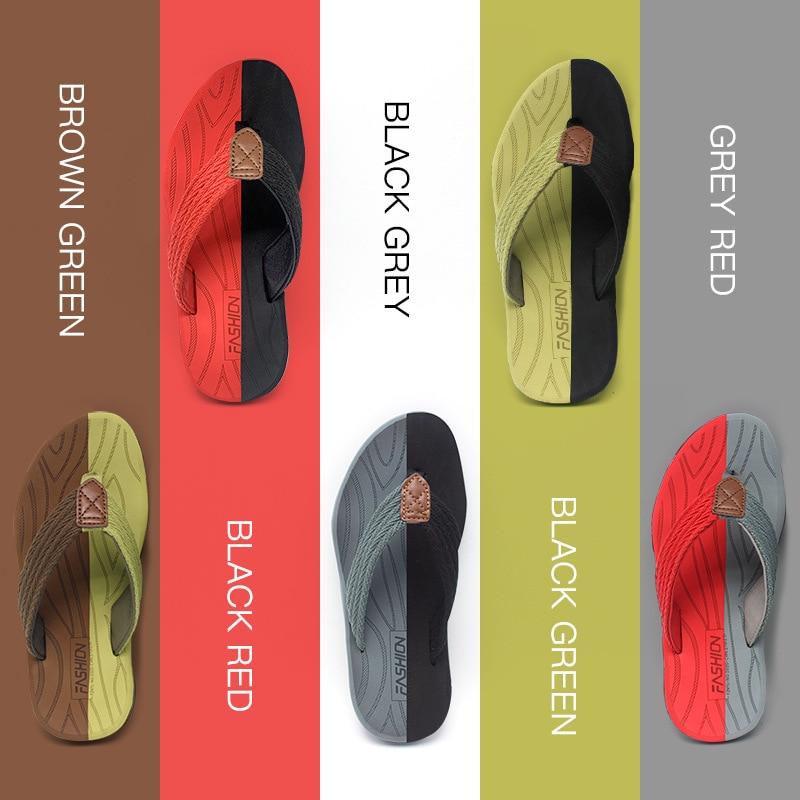 Men Flip Flops Summer Breathable Sandals Shoes For Men Non-slip Rubber Soles Slippers Fashion Outdoor Casual Shoes Big Size 47 5