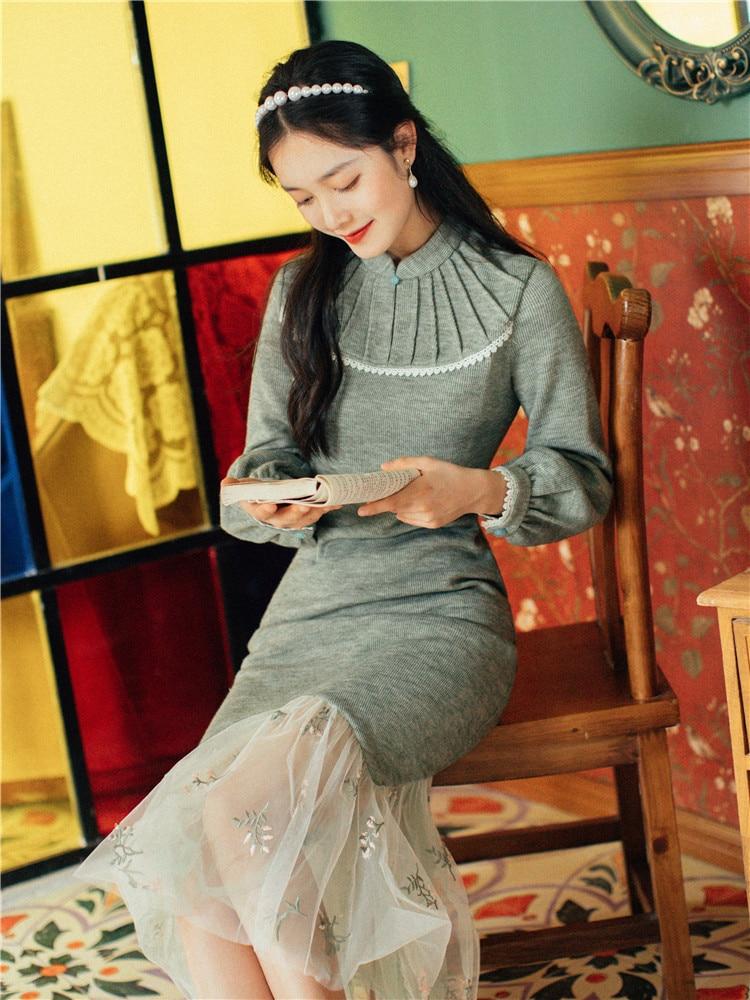 Новая мода Женская одежда труба/Русалка винтажное платье для женщин