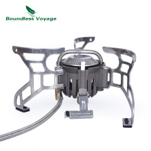 Boundless Voyage Camping Gas Stove Outdoor Portable Lightweight Furnace Burner Cooking Big Power Aluminum Alloy