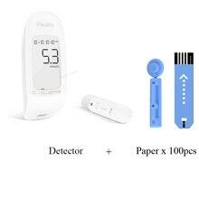 Youpin IHealth דם מד גלוקוז עם מבחן רצועות אזמלים קומפקטי נייד 5 הילוכים LCD דיגיטלי תאורה אחורית זיכרון אחסון
