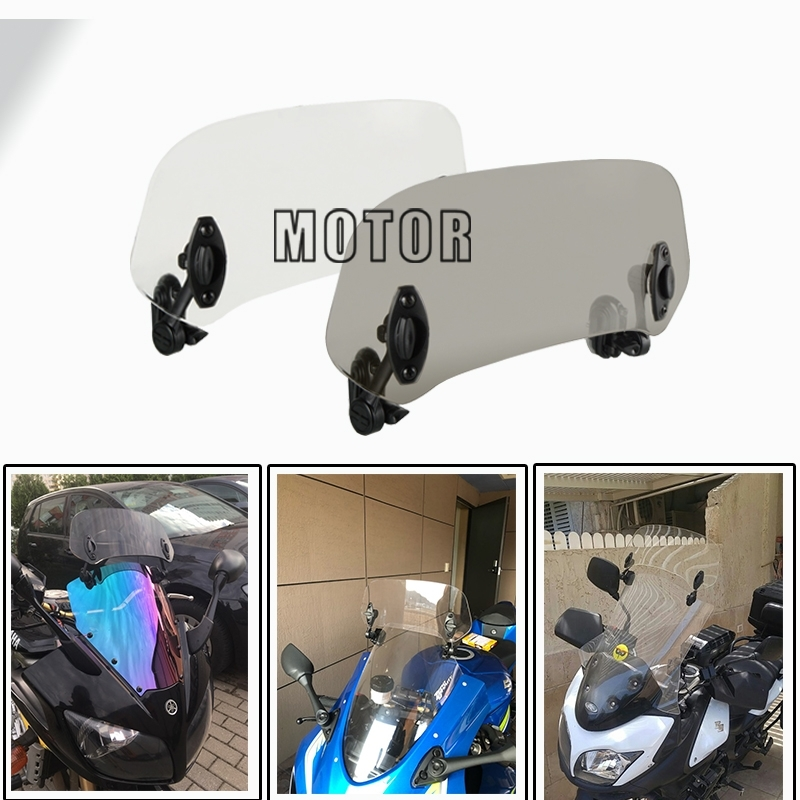 Motorcycle clip type adjustable extended windshield Wind <font><b>Deflectors</b></font> Diversion plate FOR Honda <font><b>NC750X</b></font> MT CB500X CTX1300 MSX125 image