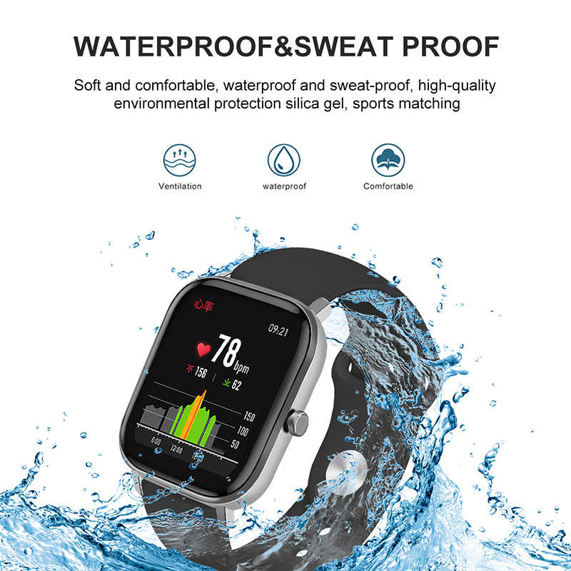BOORUI Amazfit GTS pasek czysty kolorowy silikonowy pasek 20mm Amazfit Bip pasek dla Xiaomi Huami Amazfit GTS/GTR 42mm watchband
