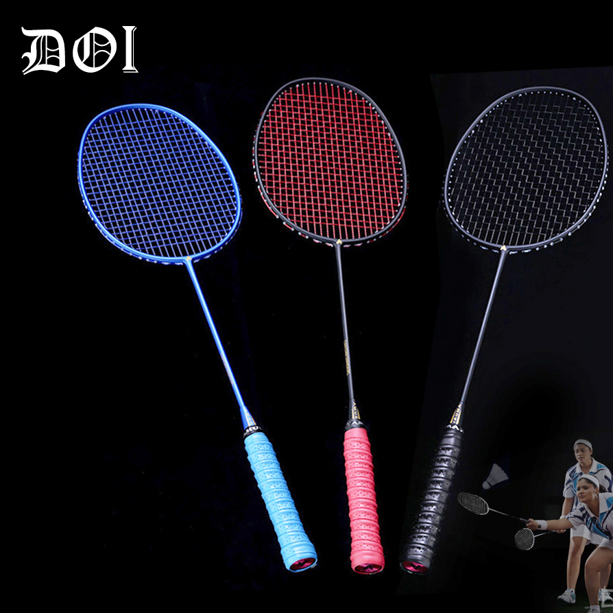 High Graphite Single Badminton Racquet Professional Carbon Fiber Badminton Racket With Carrying Bag DOG88