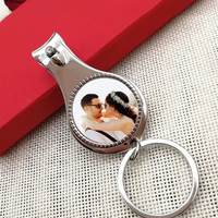Personalized Wedding Gift With Photo Customized Birthday Party Favor Multifunctional Bottle Opener/Keychain/Nail Clippers