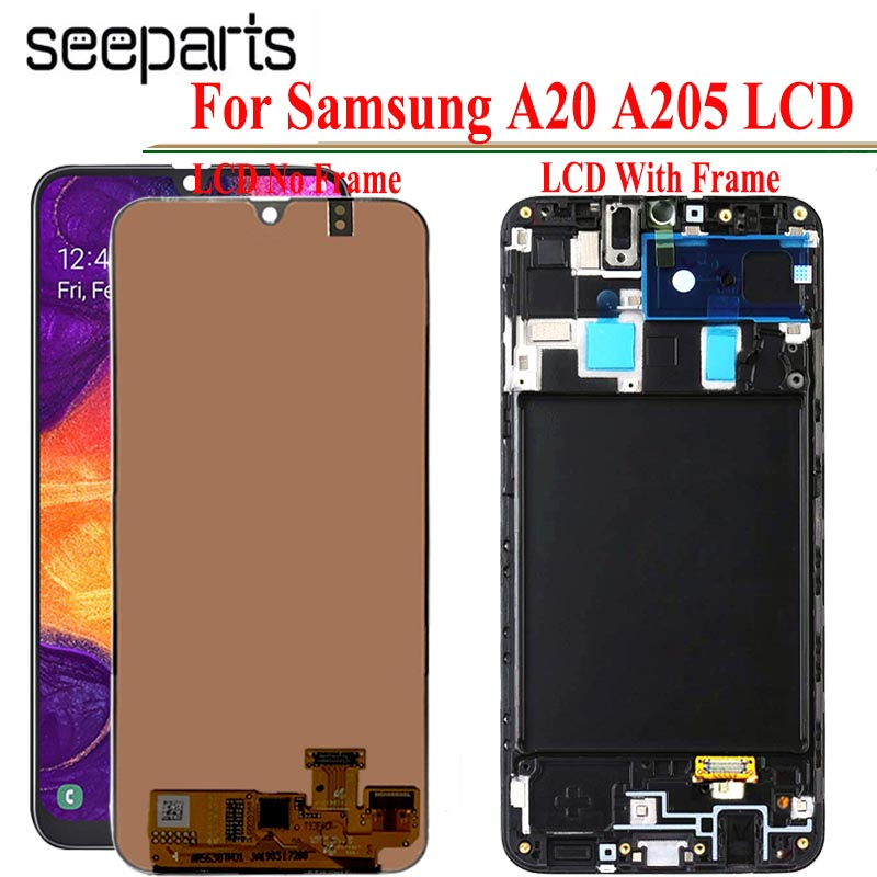 720x1560 100% Tested For Samsung Galaxy A20 LCD Touch Screen Digitizer Assembly For Samsung A20 LCD <font><b>SM</b></font> A205 LCD <font><b>A205F</b></font>/DS LCD image