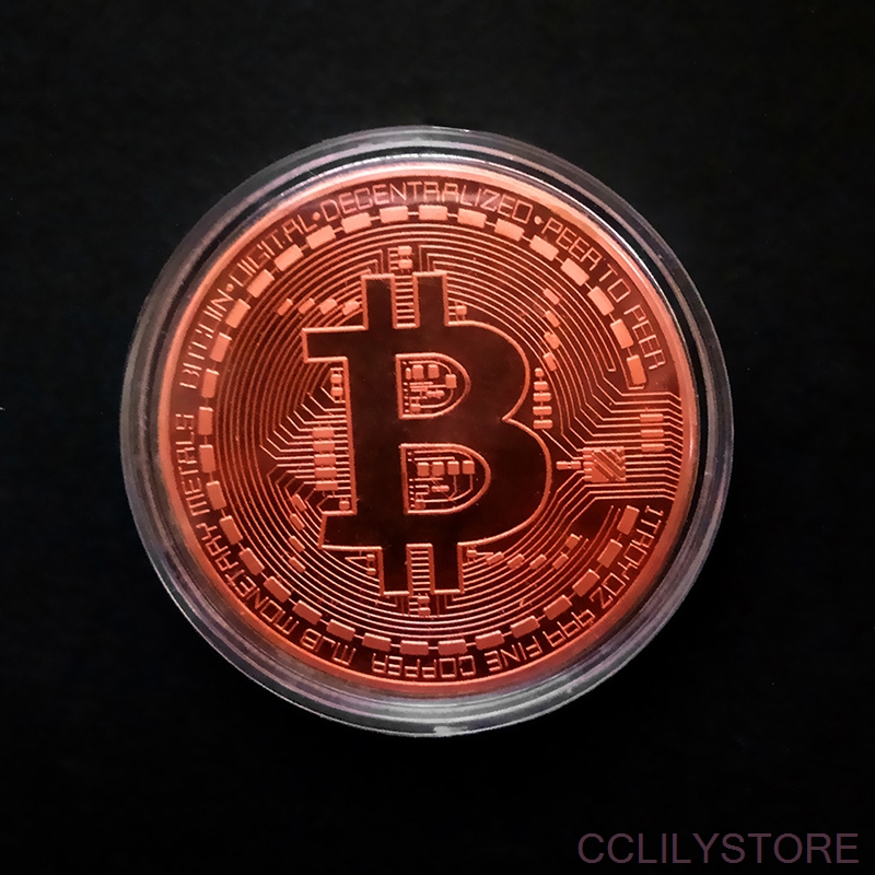 Funny Bitcoin Collectible BTC Coin Pirate Treasure Coins Props Toys For Halloween Party Cosplay Kids-5