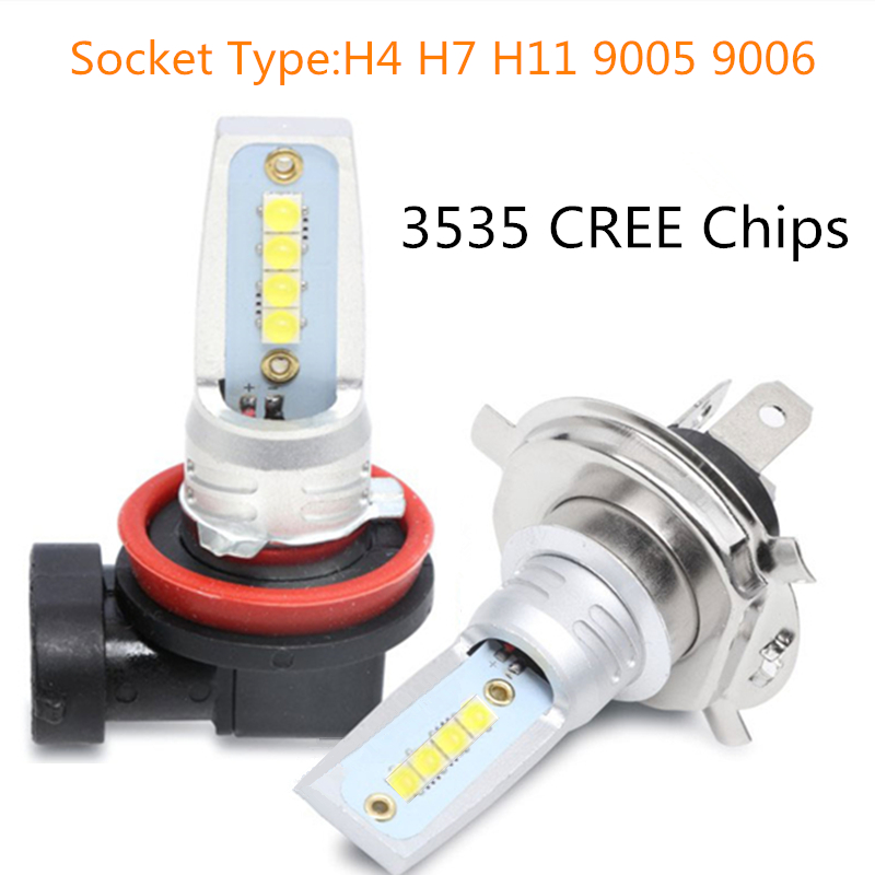 MINI 2PCS Canbus <font><b>H4</b></font> H7 H11 9005 9006 <font><b>LED</b></font> Car <font><b>headlight</b></font> Bulb headlamp light 6500K 70W <font><b>6000LM</b></font> automotivo Auto Fog Light Lamp Kit image