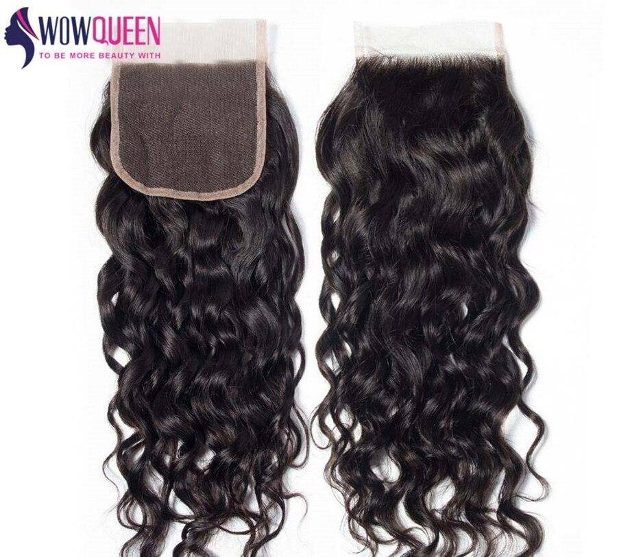 WOWQUEEN перуанская волнистая застежка 5 × 5 кружевная Застежка 6x6 кружевная застежка Реми 100% человеческие волосы 7 × 7 кружевная застежка