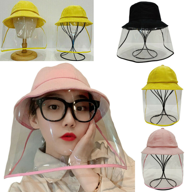 Anti Spitting Fisherman Cap Protective Hat Face Shield Safety Hats For Adult