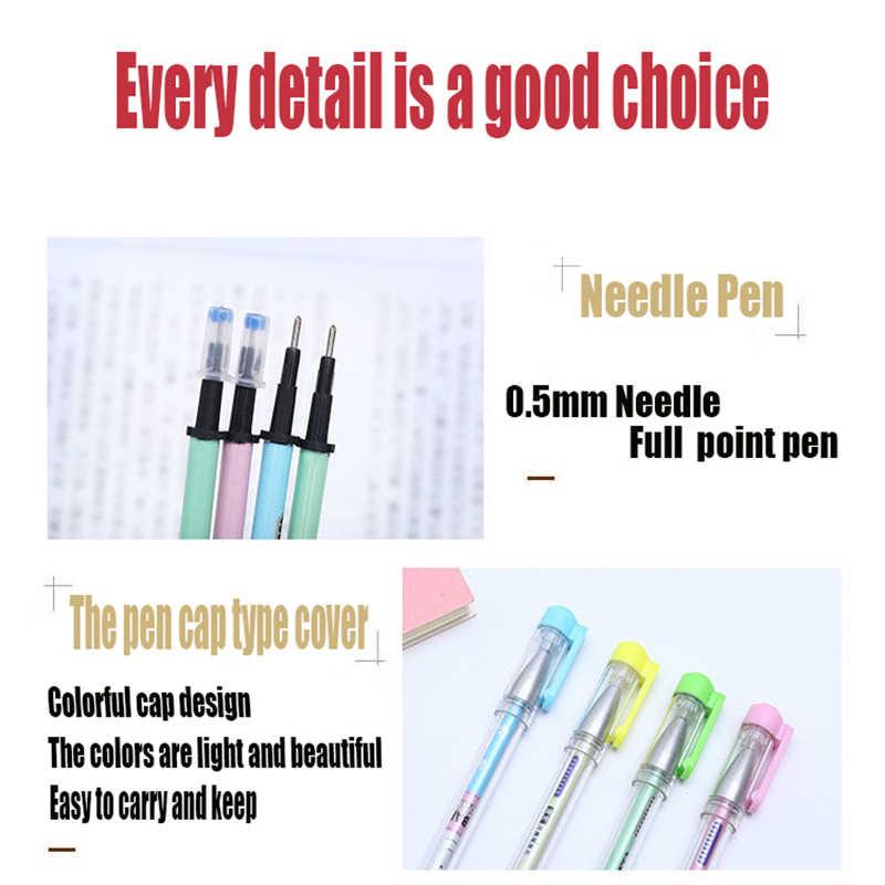 Silinebilir kalemler kristal mavi ilköğretim okulu öğrencileri için silinebilir kalem isı için 0.5mm siyah mavi silinebilir nötr kalem dolum için