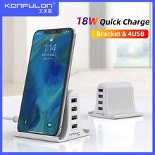 30W Quick Charge 3,0 Multi USB Ladegerät Handy Ladegerät Max 3A EU UNS UK Destop Ladegerät Für iPhone12 QC 3,0 Ladegerät