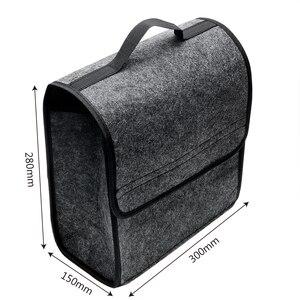 Image 3 - Auto Opbergtas Kofferbak Organizer Box Vouwen Auto Rear Opslag Pouch Auto Styling Accessoires Opbergen Opruimen Seat Back Bag