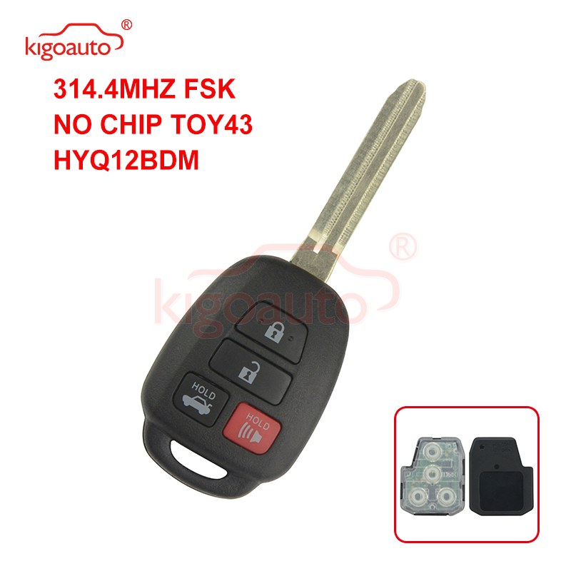 for Toyota Corolla Venza Upgraded Flip 315MHz G Chip Remote Car key FCC GQ4-29T