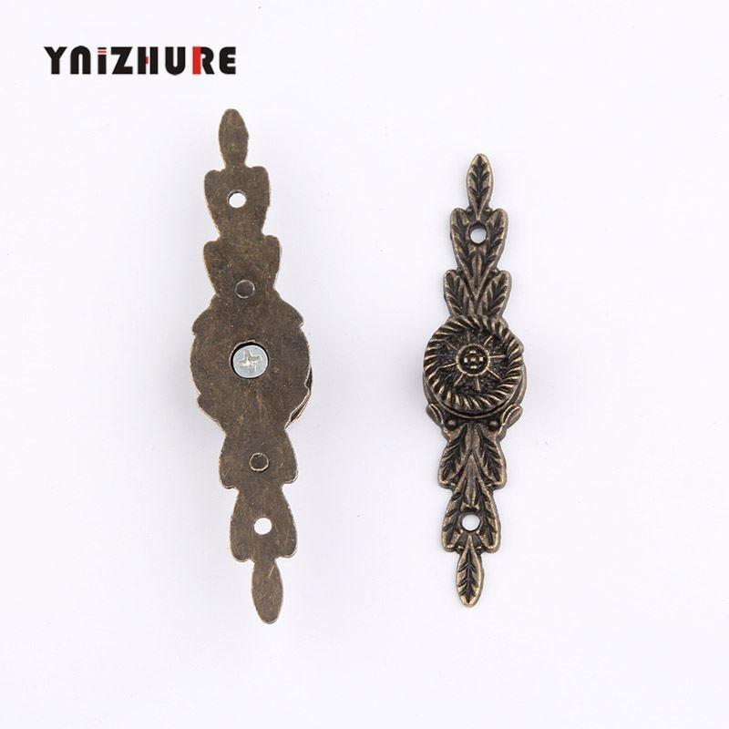 2pcs Mini Long Handle Alloy Drawer Pulls Jewelry Box Antique Bronze Cabinet Puxadores Tiradores Muebles Knob