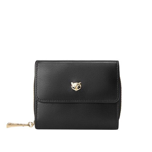 Foxer Pesy Genuine Leather Wallet Card Holder Black