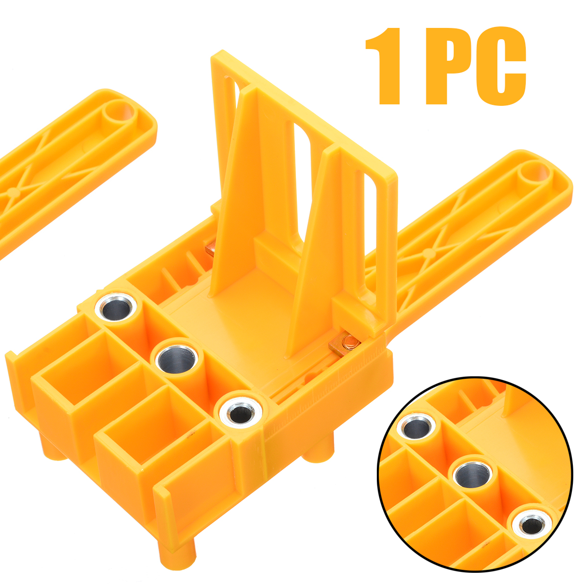 Woodworking Dowel Jig With 6 8 10mm Self-centering Wood Drilling Doweling Locator Hole Saw Tools Drill Guide For Carpenters