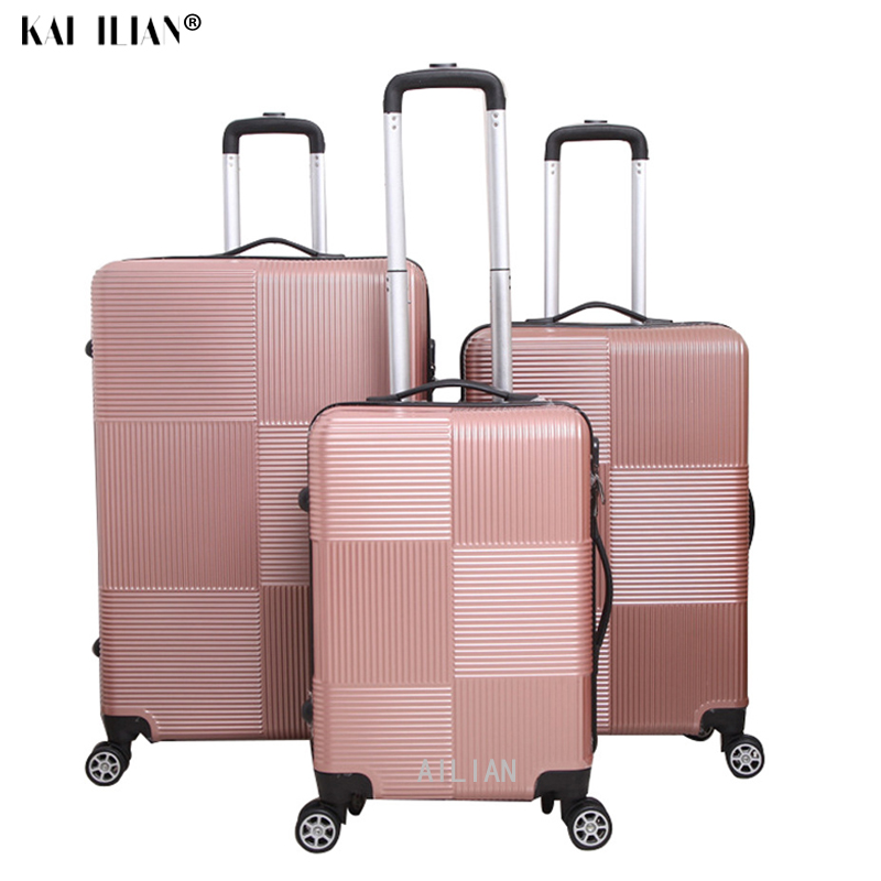 ABS+PC Rolling Luggage Set Sipnner Wheels Travel Cabin Suitcase Trolley Luggage 20/24/28 Inch Suitcase Freeshipping Fashion