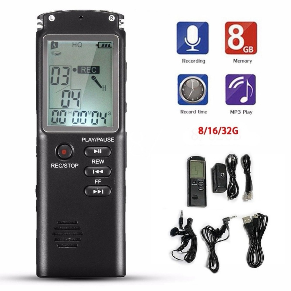 Voice Recorder USB Professional 96 Hours Dictaphone Digital Audio Voice Recorder With VAR/VOR Built-in Microphone 8GB 16GB 32GB