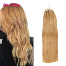 Gazfairy Straight Loop Micro Ring Hair 22 24 50g 100g Pure Color Human Bead Links Real Remy Extensions For Women