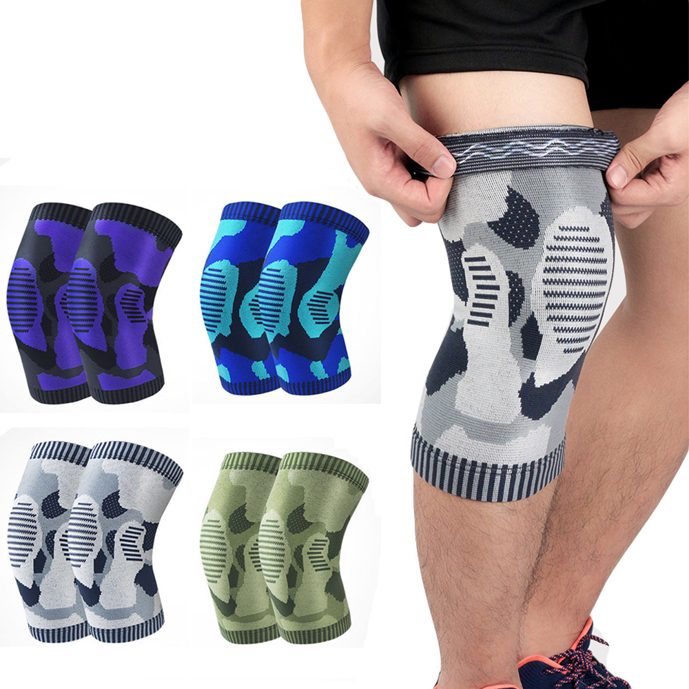 Elastic Sports Support Knee Pads Silicone Non-slip Knee Protection 1 Piece LFSPR20007