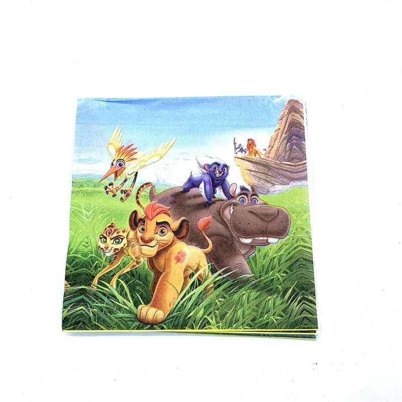 Disney le Lion garde Jungle Animal Simba anniversaire garçon vaisselle jetable chapeau chaise haute bannière bébé douche décor fournitures