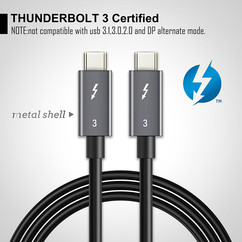 Image 2 - 2019 NEW USB 3.1 Type C to C USB Thunderbolt 3 Cable Certified PD 40Gbps 100W Fast USB C Cable for Macbook Pro Quick Charge C024-in Mobile Phone Cables from Cellphones & Telecommunications