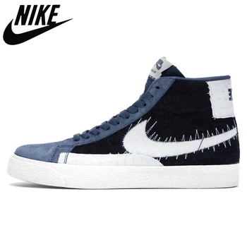 Original Nike Blazer Mid 77 Vintage Have A Good Day Blue mid-top casual sports skateboard shoes for men Unisex women Sneaker