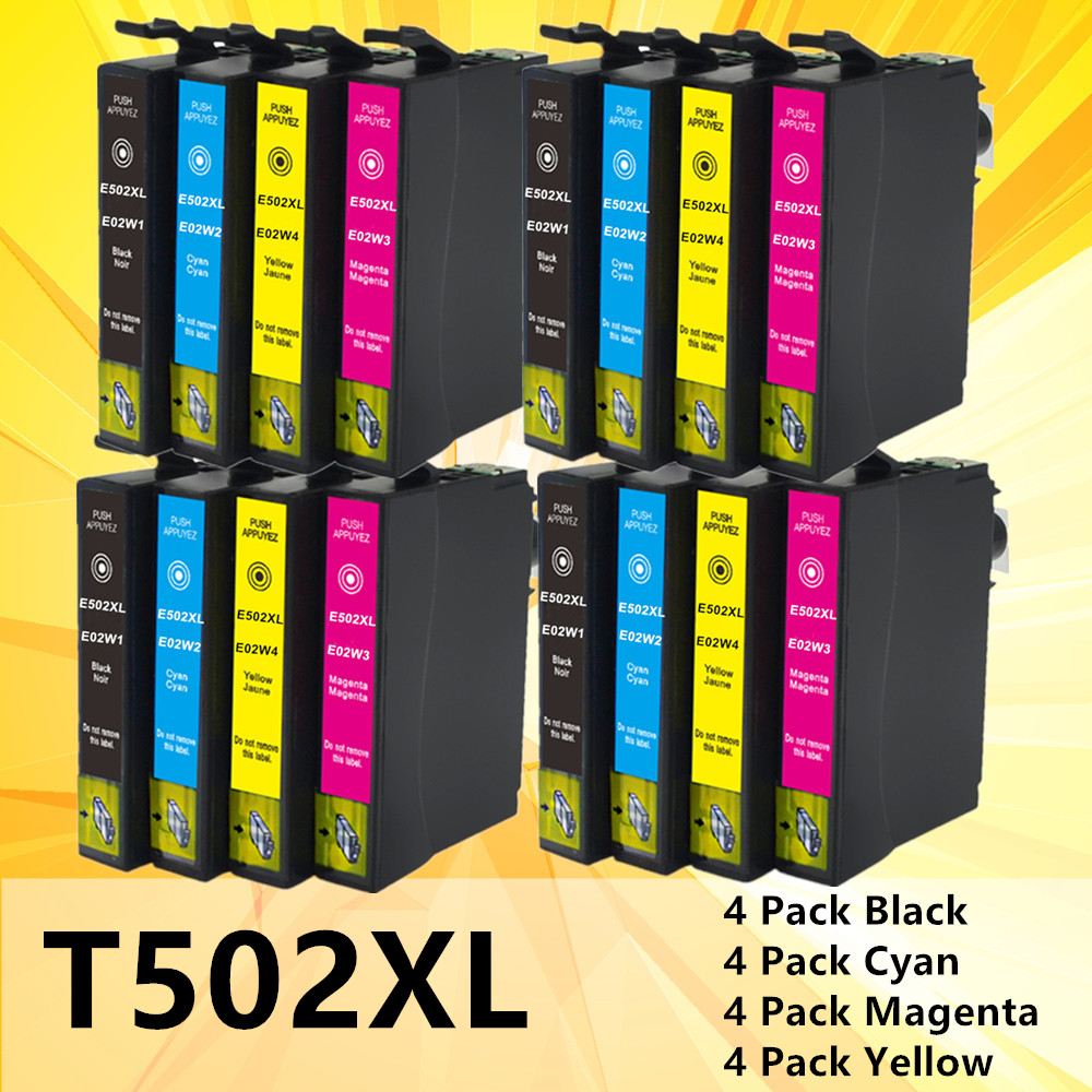 Ink For Epson 502XL T502XL 502 502 XL Ink Cartridge For Epson Expression Home XP-5100 5105 2860DWF 2865D Printer Cartridges