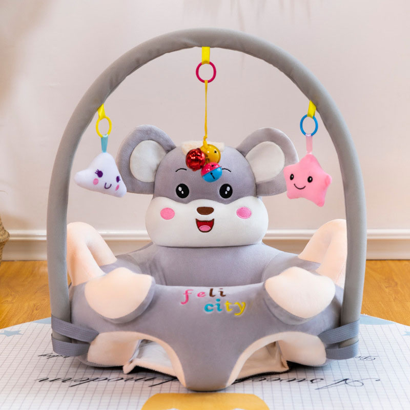 Baby Seat Sofa Chair Cartoon Plush Infant Learning Sitting Seat Portable Protevtive Safety Infant Support Cushion Sofa Filling