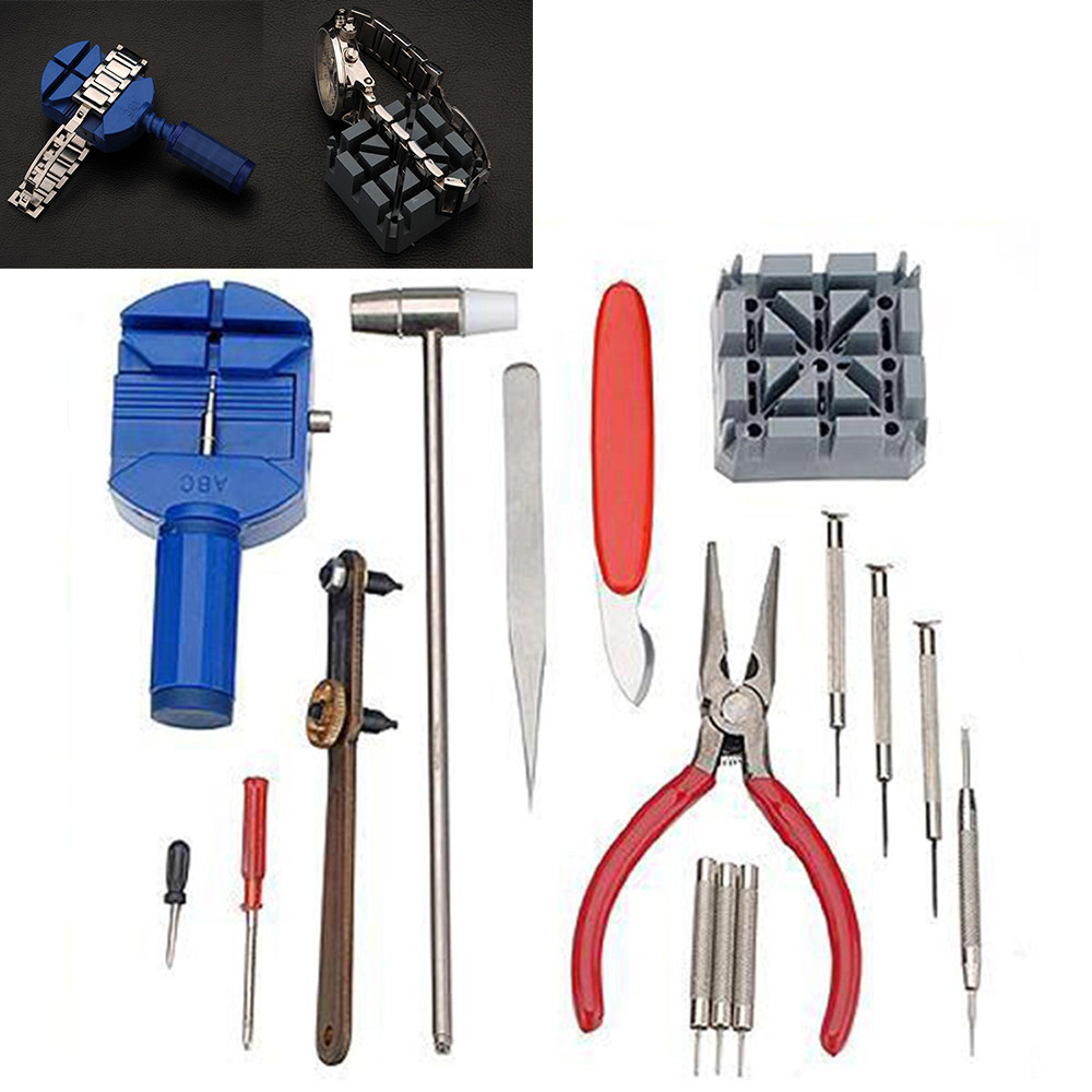 16Pcs /set Professional Watch Tools Watch Case Opener Link Pin Remover Repair Tools Kit Watchmaker Tools