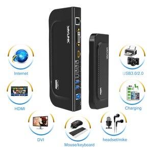 Image 3 - Wavlink USB 3.0 evrensel çift ekran yerleştirme istasyonu destek HDMI/DVI/ VGA 6 USB portları ile harici Gigabit ethernet HD 1080p