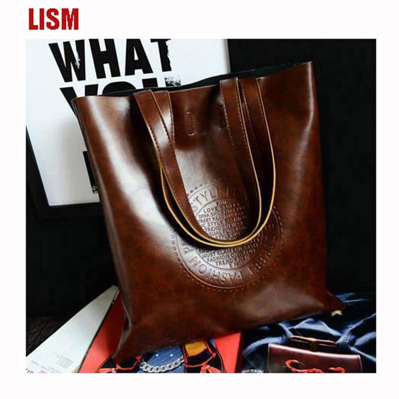 LISM Soft PU Ladies Shoulder Bag Luxury Ladies Bags  High Quality Ladies Bags  Large Capacity Handbags  Factory Direct   2018