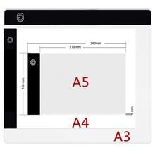 Elice-tableta de dibujo A3 A4 A5, tablero de pintura de diamante, almohadilla de copia de arte, USB, escritura de bocetos, Wacom, almohadilla de luz led de trazado