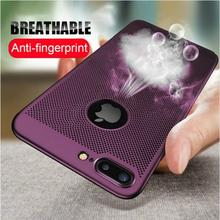Heat Dissipation Case For iPhone X XR XS MAX 6 6S 7 8 Plus 5 5S SE Breathable Phone Cover For iPhone 11 Pro Max Protective Shell black cover darling in the franxx for iphone x xr xs max for iphone 8 7 6 6s plus 5s 5 se super bright glossy phone case