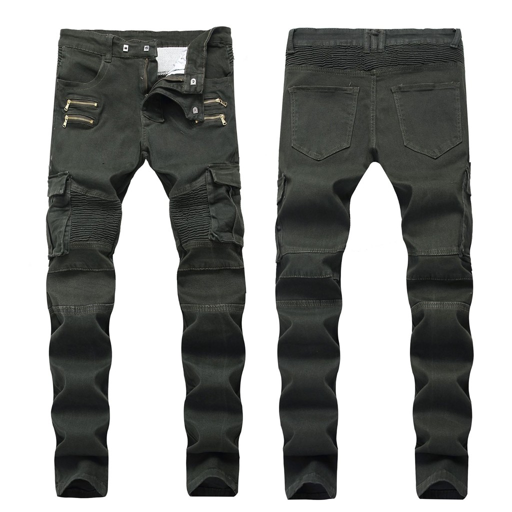 Men's Stretch Pleated Casual Slim Sweatpants Pencil Jeans Trousers Pants Dropshipping Winter 2019 Fashion Leisure Size Workwear