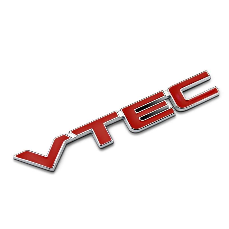3D VTEC Metal Car Styling Refit Emblem Fender Tail Body Badge Zinc Alloy Sticker For Honda Civic Accord Odyssey Spirior CRV