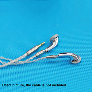 Image 5 - 15.4mm Detachable MMCX Pin Headphone 3 Way Balanced Flat Headphone DIY Headset Silver Shell Case Earbuds
