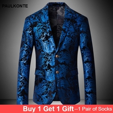 PAULKONTE 2019 New British Style Mostly Male Suit Jacket Fashion High Quality Slim Fit Blazer Party Classic Mens
