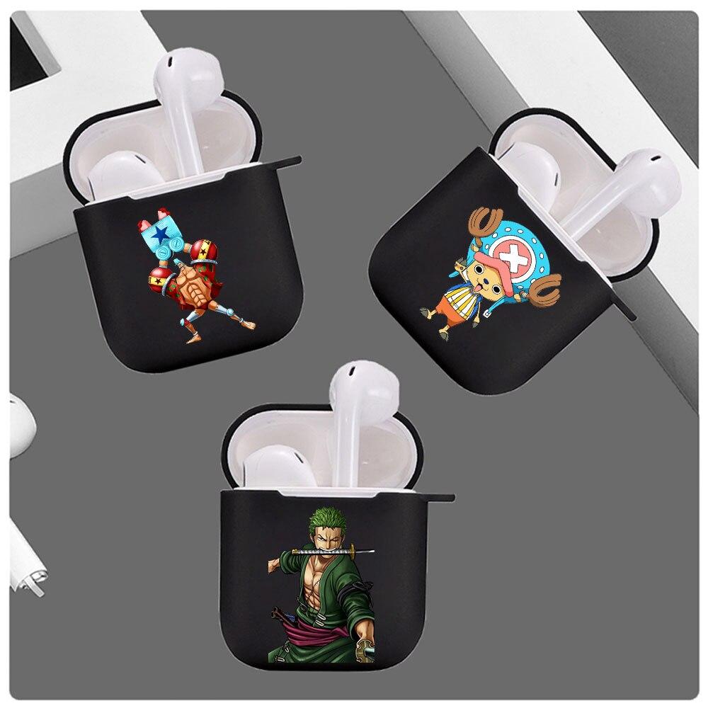 Hot Cute Anime Luffy Choppe Zoro Cartoon Airpod Case Cover for Apple Airpods 1 2 Wireless Bluetooth Earphone Accessories Coque