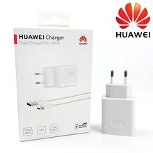 Huawei p30 pro carregador rápido original 40 w 10 v/4a ue supercharge adaptador usb 5a tipo c cabo mate 20 10 pro honra magia 2 nova 5