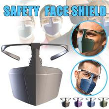 Breathable Protective face shield Against Droplets Anti-fog Isolation face shield Breathable Reusable Protective Mask head mounted welding helmet black against ultraviolet ray protective mask pc safety headgear face shield mask glasses