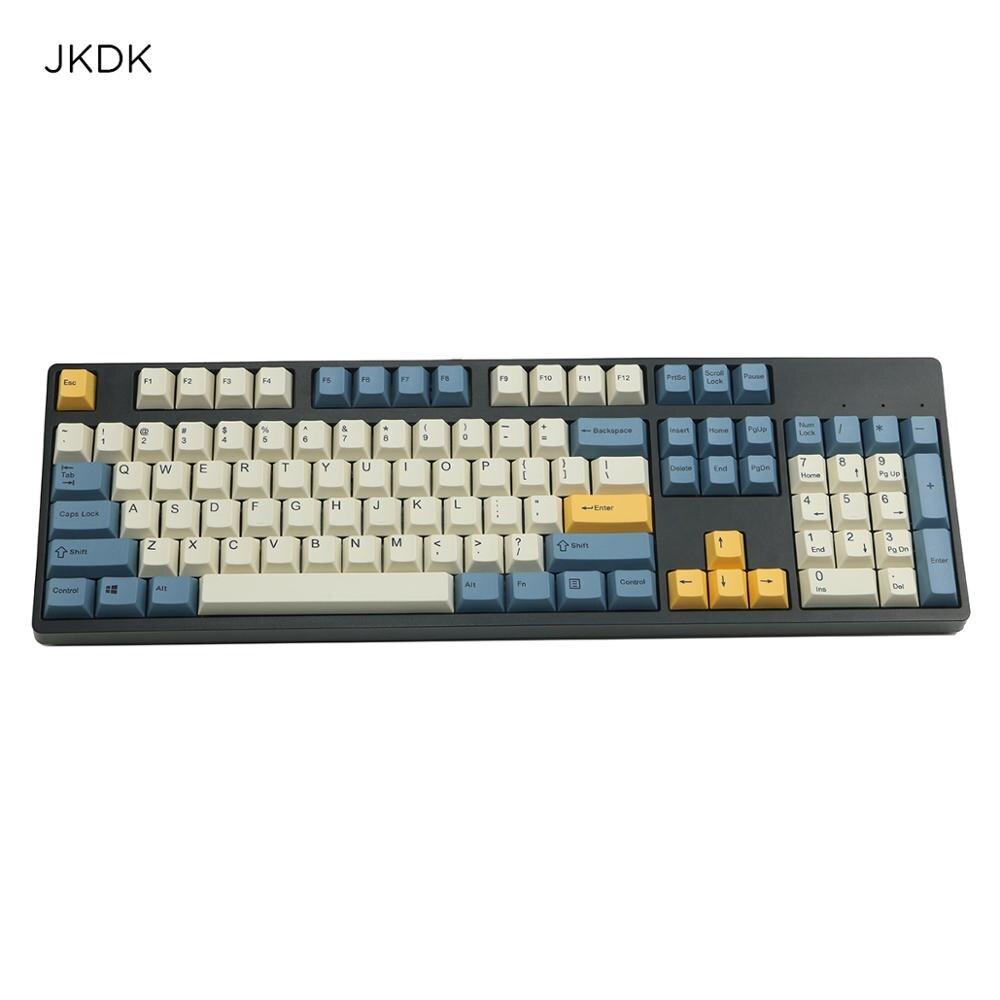 JKDK abricot keycap 108/143 touches PBT Cherry profil colorant-sublimé MX commutateur pour clavier mécanique keycap vendre seulement keycap