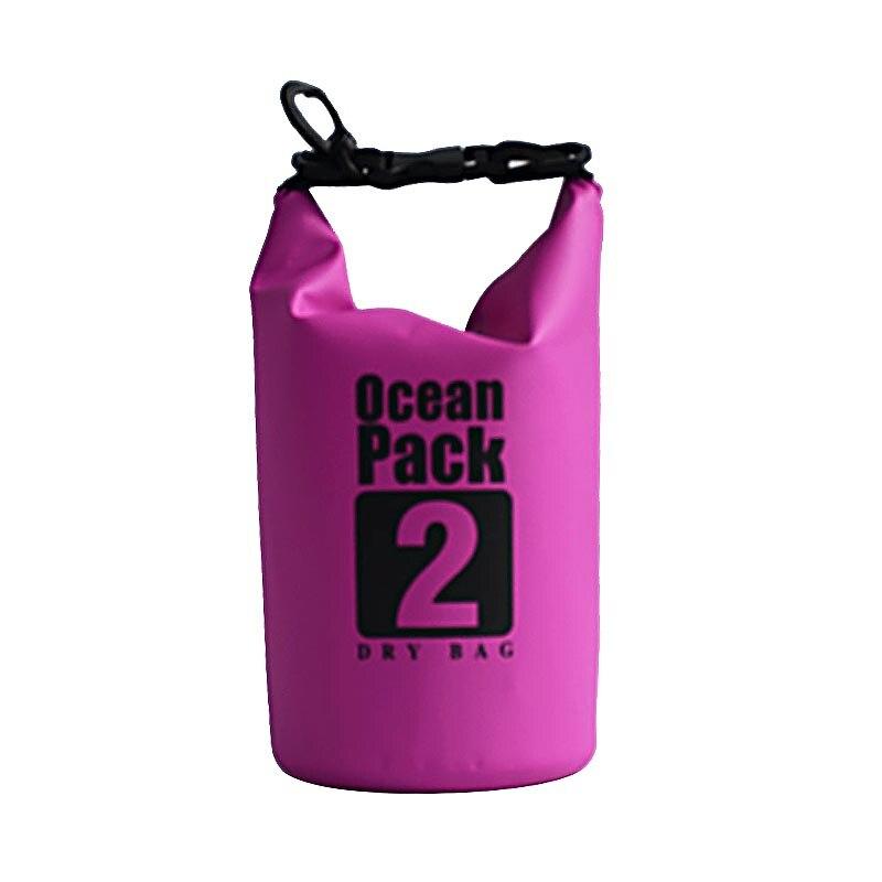 В настоящее время доступны горячие продажи 2L фиолетовый Открытый водонепроницаемый мешок пляж плавание водонепроницаемый мешок