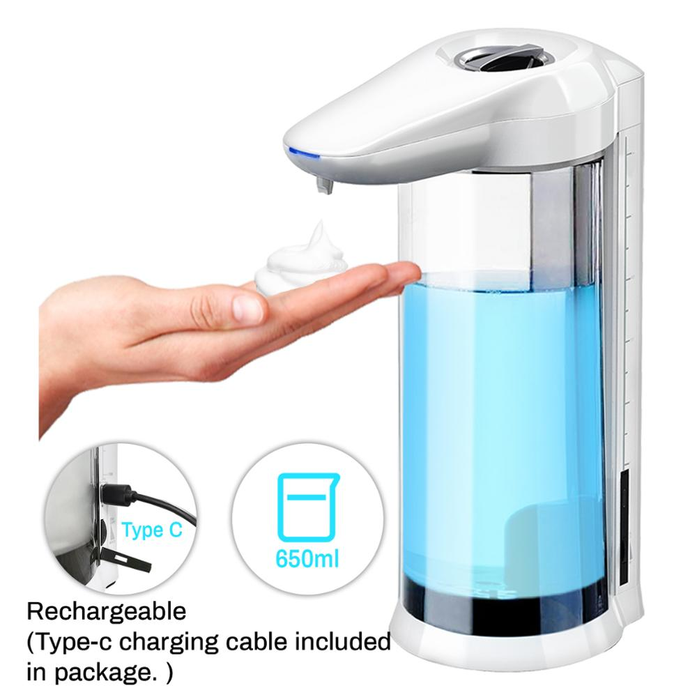 650/400 мл Автоматический Диспенсер Для Мыла Бесконтактный перезаряжаемый или подключаемый к источнику питания диспенсер для жидкого мыла ге...