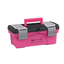 Boîte à outils Portable 10 12.5 pouces, rangement en plastique rose dame couche intérieure boîte à outils pour composants d'outils nécessités quotidiennes