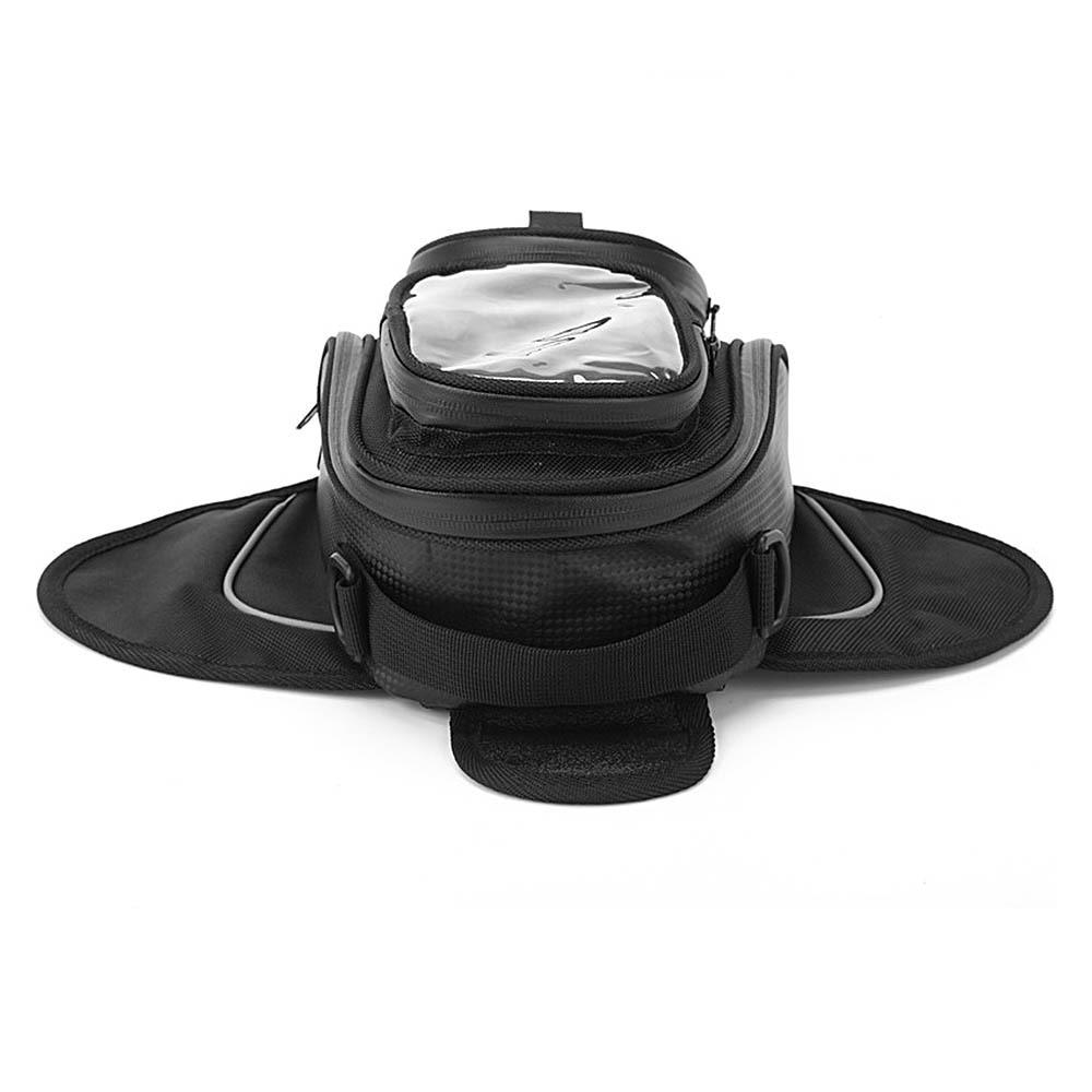 Купить с кэшбэком New Oil Fuel Tank Bag Waterproof Motor Tank Bag Black  Magnetic Motorbike Saddle Bag Single Shoulder Bag Motorcycle Backpack
